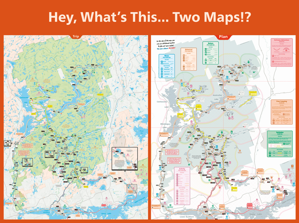 Kawartha Highlands Map Unlostify   Camping Maps