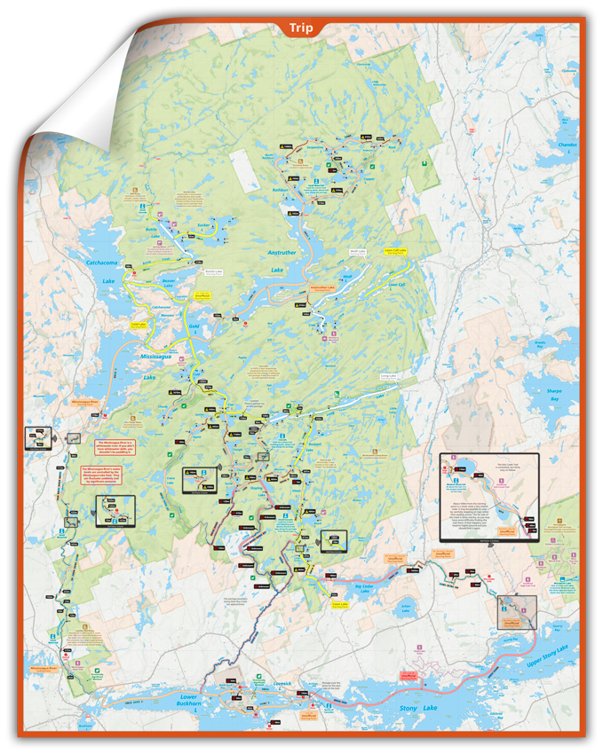 Kawartha Highlands - Wall Map