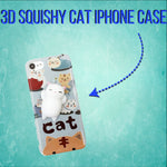 3D Cute Squishy iPhone Cat Cases
