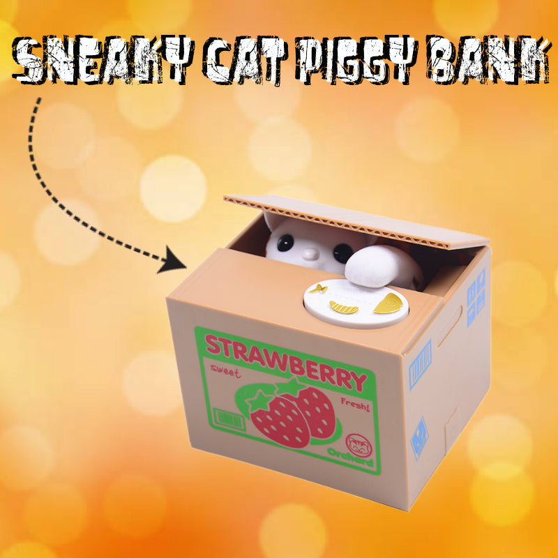 Sneaky Cat Piggy Bank