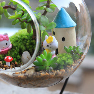 Hanging Glass Flower Pot Dome