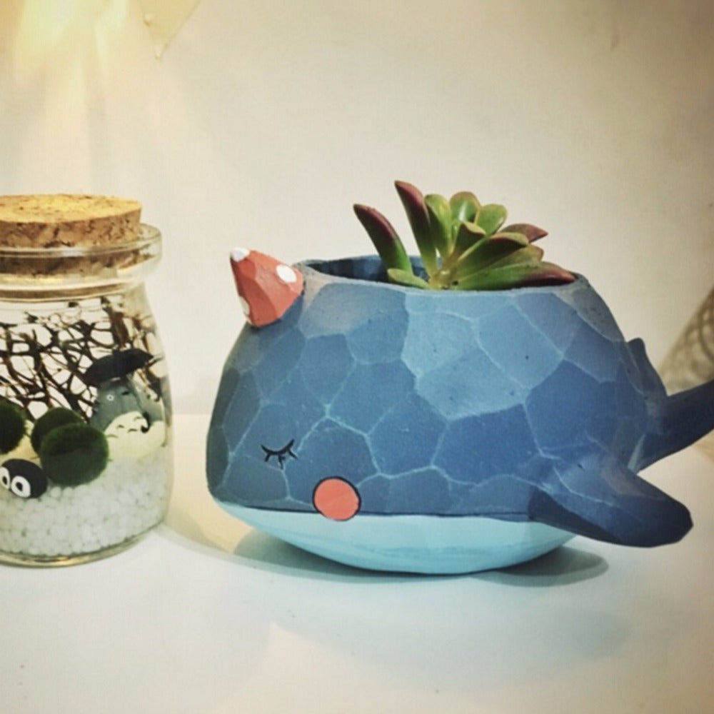 Smiling Animal Flower Pots