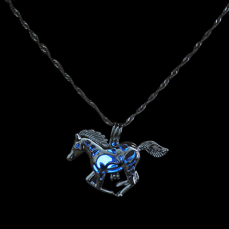 Luminous Horse Necklace