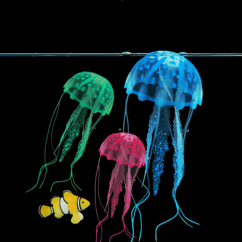 Glowing Artificial Jellyfish for Aquarium