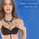 Strapless Drawstring Push Up Bra