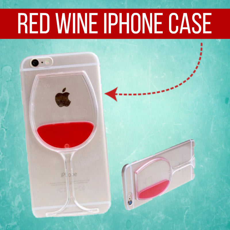 Red Wine Glass Hard Cover iPhone