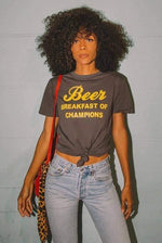 Electric West Beer Breakfast of Champions Tee Shirt - The Vintage Bohemian