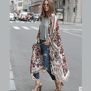 Load image into Gallery viewer, New York Floral Kimono - The Vintage Bohemian