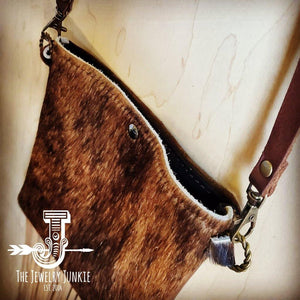 Load image into Gallery viewer, Cowhide Handbag Crossbody Brown Leather - The Vintage Bohemian