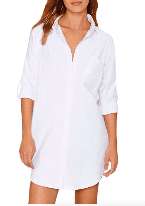 Load image into Gallery viewer, White Shirt Dress Classic Style