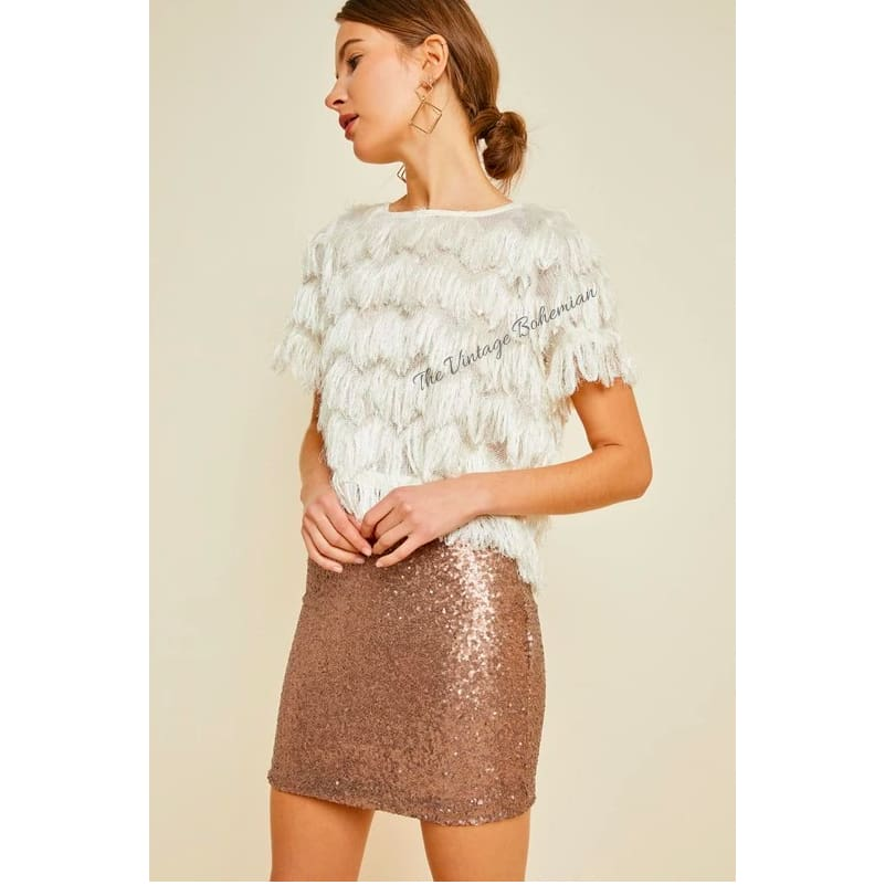 Bianca High Rise Sequin Skirt | The Vintage Bohemian