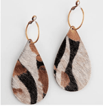 Keep it Gypsy Fur Leather Earring - The Vintage Bohemian