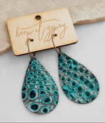 Keep it Gypsy Leather Crocodile Earring - The Vintage Bohemian