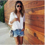 Adelle Classic White Button Down Blouse