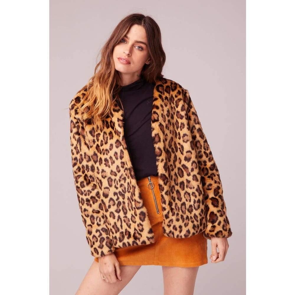 Band of Gypsies | Walk On The Wild Side Faux Fur Jacket