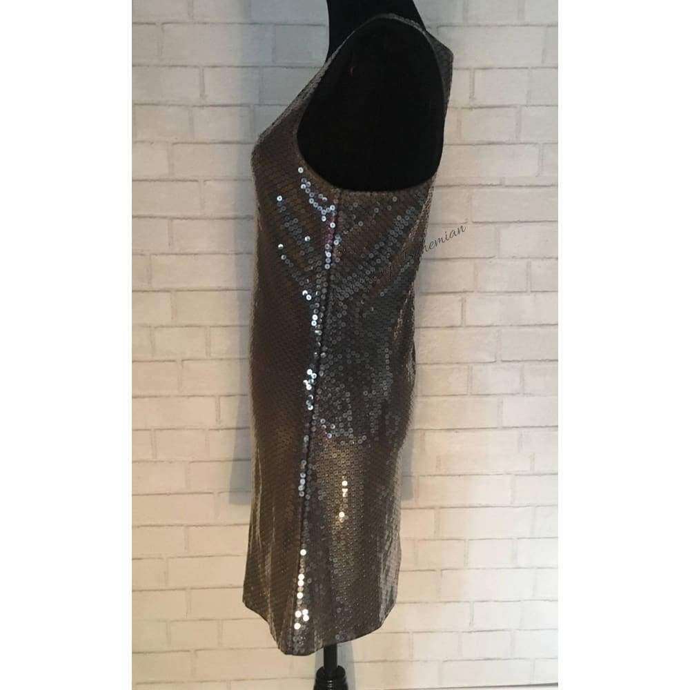 Vintage Sequin Racerback Mini Dress