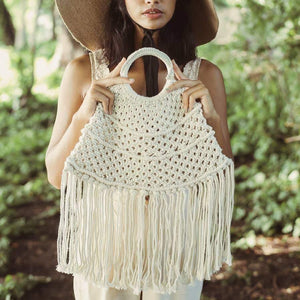 Brunna Co Amer Macrame Fringe Bag
