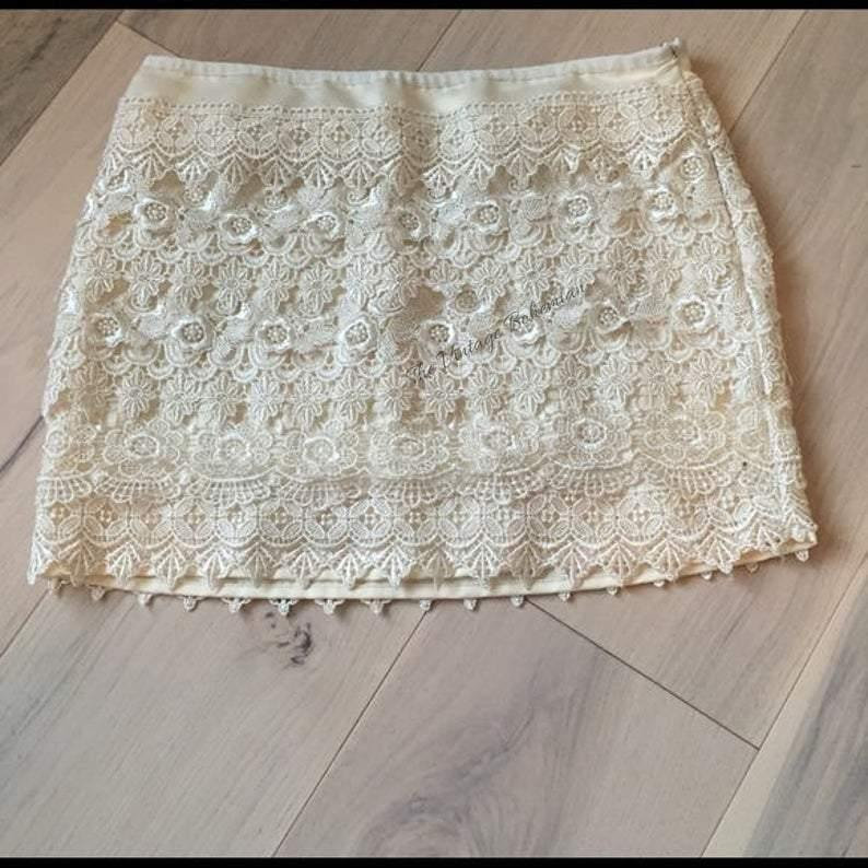 Clara Vintage Lace Skirt - The Vintage Bohemian