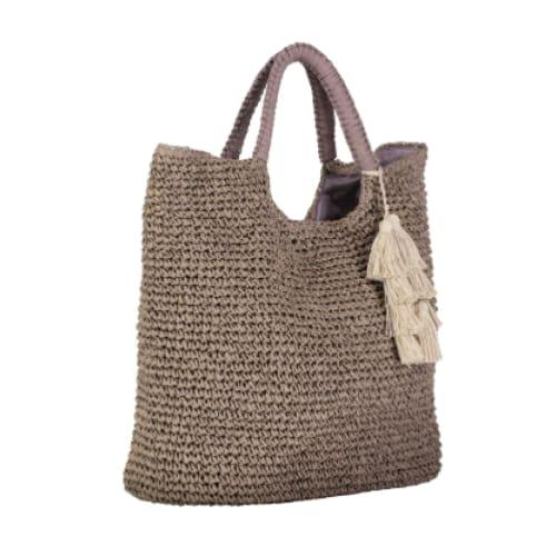 Fallon and Royce Mel Straw Tote | Taupe