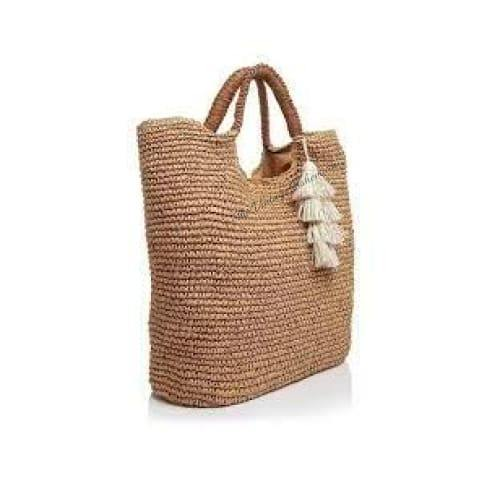 Fallon and Royce Mel Straw Tote | Natural | The Vintage Bohemian