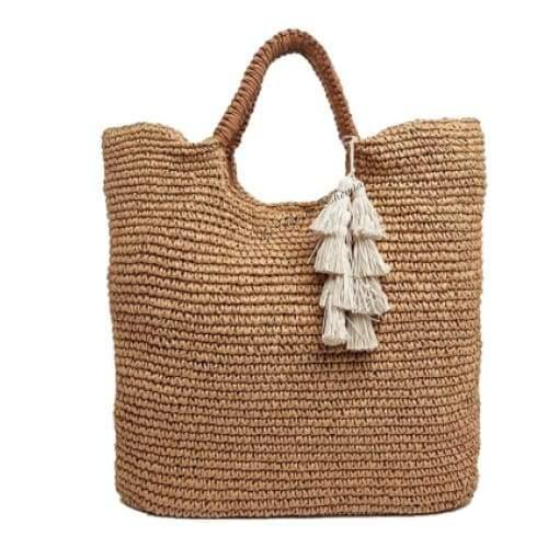 Load image into Gallery viewer, Fallon & Royce Mel Straw Tote