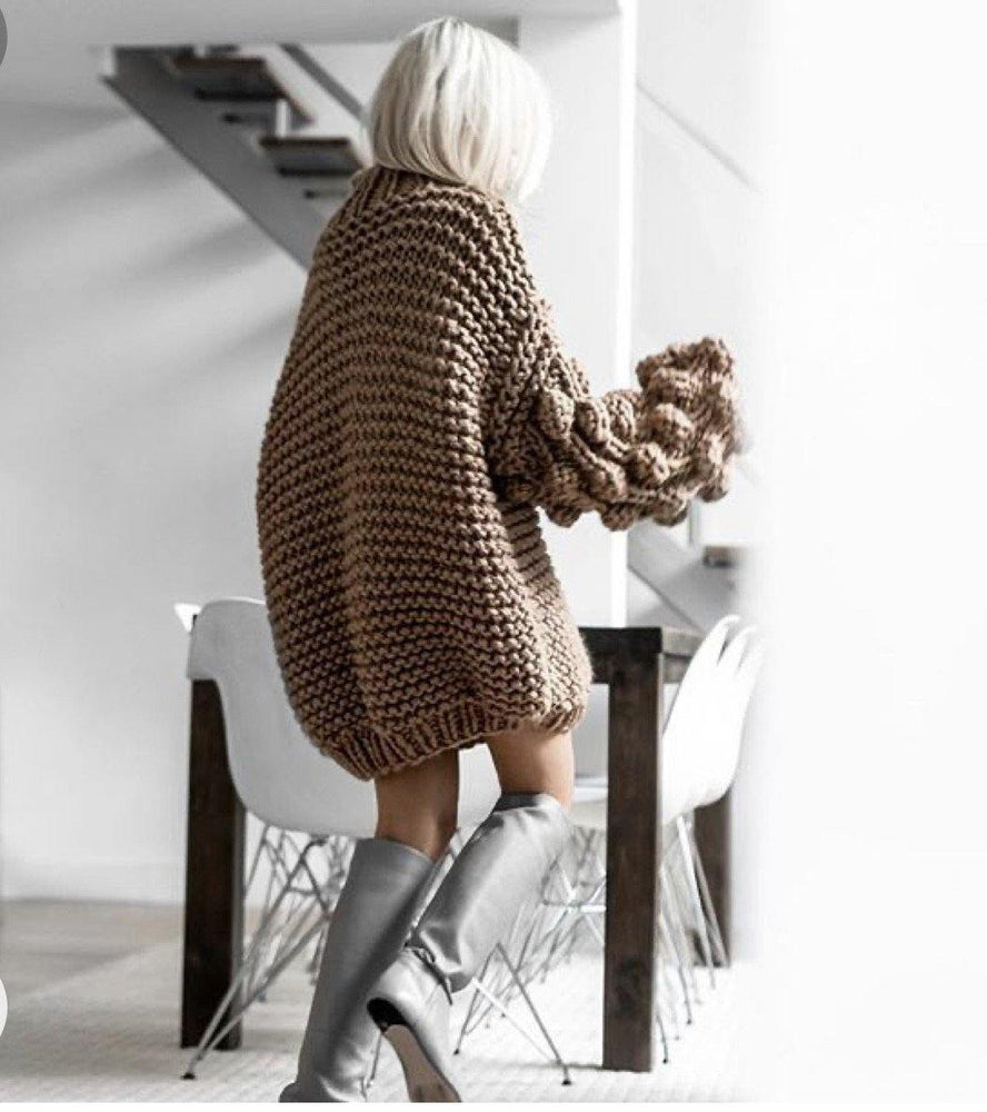 Chunky Cable Knit Sweater - The Vintage Bohemian
