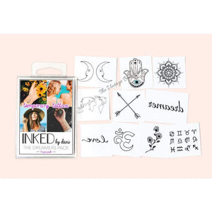 INKED By Dani Temporary Tattoos | Dreamers Pack - The Vintage Bohemian