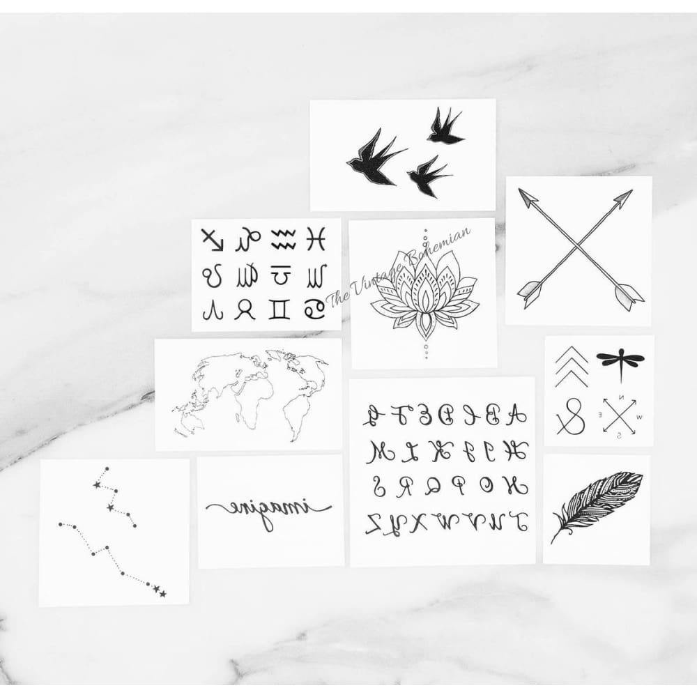 INKED by Dani Temporary Tattoos | INSPIRED Pack