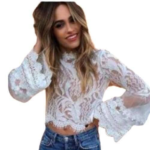 Juliet Cut out Bell Sleeve Top - The Vintage Bohemian