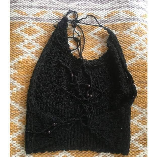 Macrame Halter Top | The Vintage Bohemian
