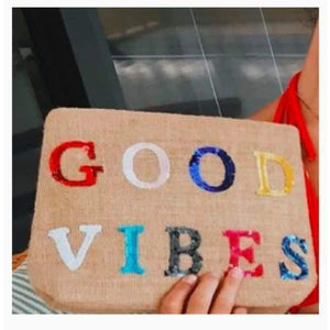 Moyna Jute Clutch  | Good Vibes