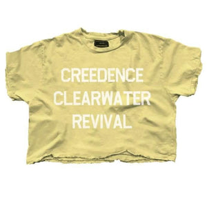 Load image into Gallery viewer, Creedence Clearwater Revival Crop Tee - The Vintage Bohemian