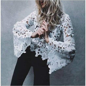 Romeo Cut out Bell Sleeve Lace Top