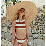 SAME | The Lady Brief | Cream Camel Stripe | The Vintage Bohemian