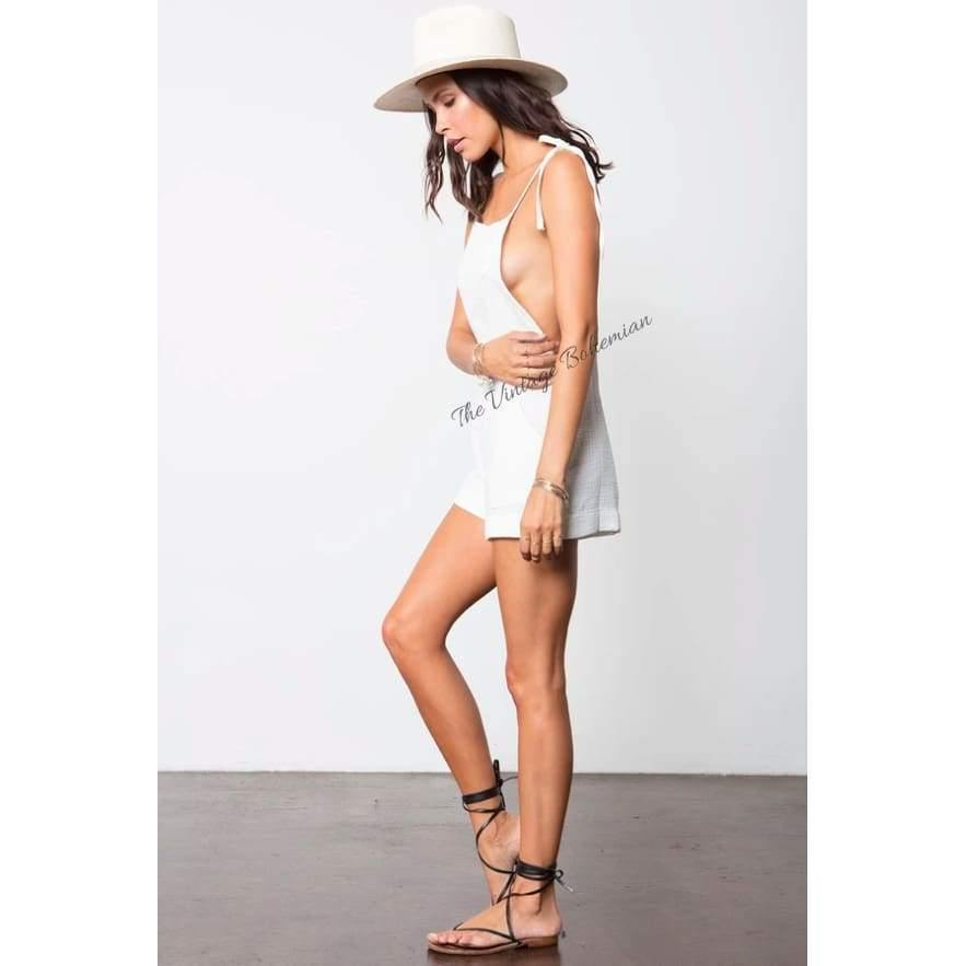 Stillwater LA | The Taste of Summer Shorter-Alls | White | The Vintage Bohemian