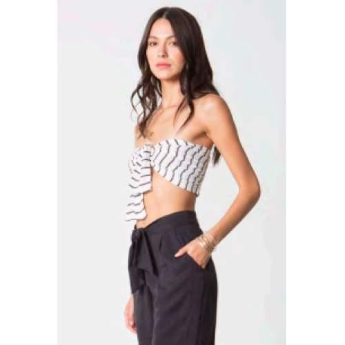Stillwater This is it Tie Top | Black Striped