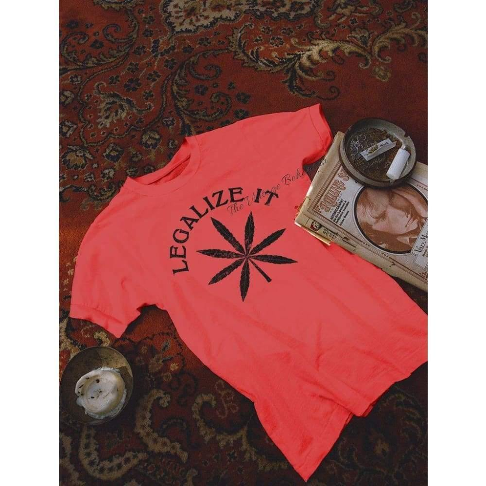 Stoned Immaculate Legalize it Tee Red | The Vintage Bohemian