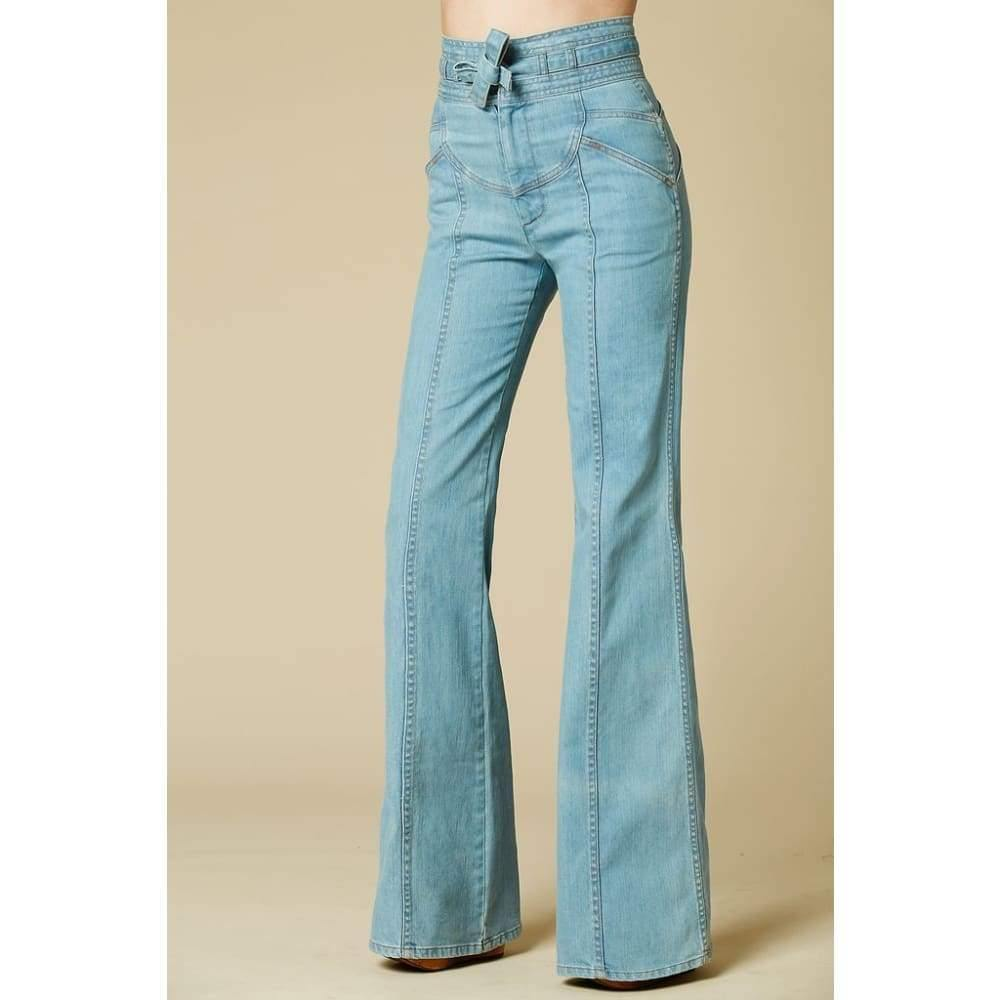 Stoned Immaculate Waiting For The Sun Bells in Topanga Flare Jeans