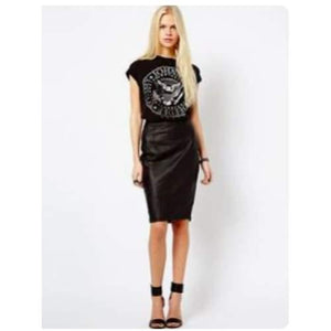 Vintage Vegan Leather Skirt