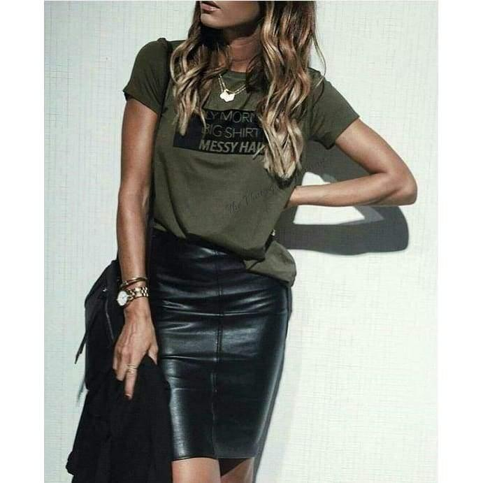 Load image into Gallery viewer, Vintage Vegan Leather Skirt