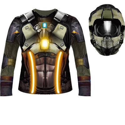 Fortnite Inspired Child Sublimated Costume Shirt & Hood Dark Voyager