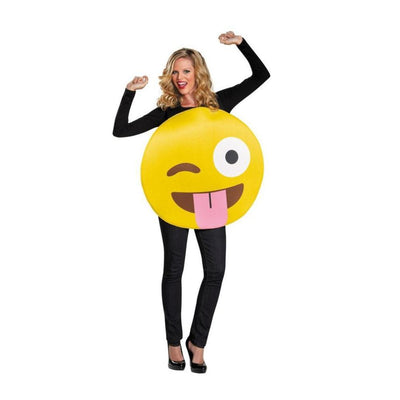 Disguise Emoticon Tongue Costume Costume