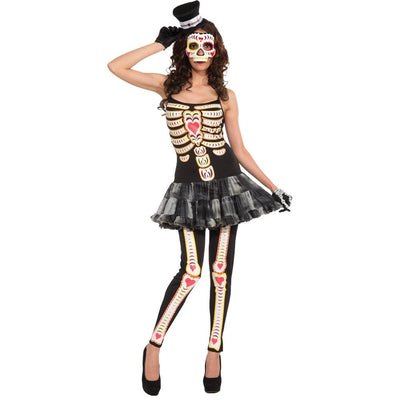 Forum Novelties Day Of The Dead Female Adult Costume
