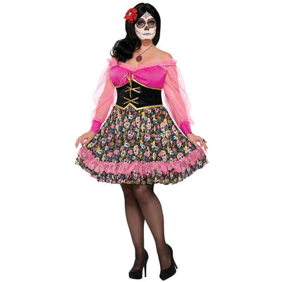 Forum Novelties Day Of The Dead Lady Costume