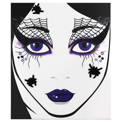 Morris Costumes Face Decal Spider Web