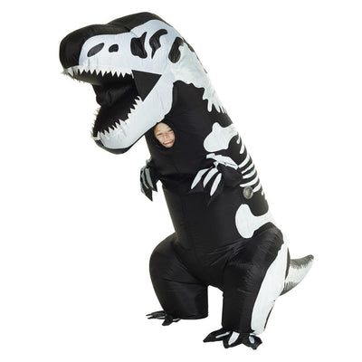 Morph Skeleton T Rex Inflatable Chld Costume
