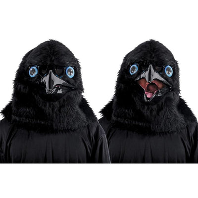 Seasonal Visions Animated Animal Raven Mask