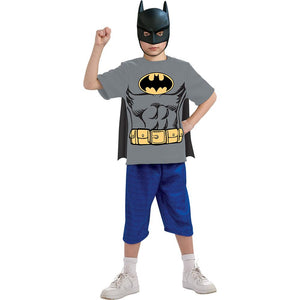 Batman Child Shirt Mask Cape Costume