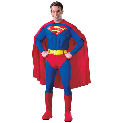 Superman Adult Muscle Dlx Costume