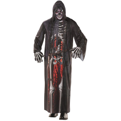 Underwraps Grim Reaper Photo Real Robe Ad Costume